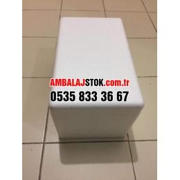 1 Kg Eps strafor köpük Donuk ve soğuk zincir Taşıma kutusu kabı