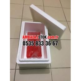 500 g Eps strafor köpük  soğuk zincir ve Donuk Taşıma kutusu